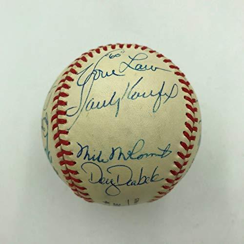 Sandy Koufax Tom Seaver Bob Gibson Cy Young Winners Signed Baseball 15 Sigs JSA