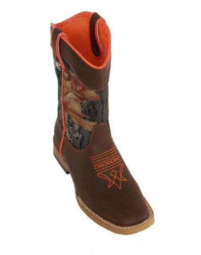 Double Barrel Toddler-Boys' Buckshot Side Zipper Cowboy Boot