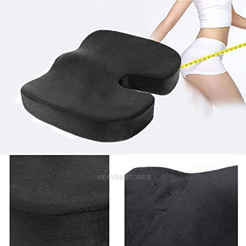 FidgetKute Memory Foam Coccyx Orthopedic Car Office Seat Chair Cushion Pain Relief Pillow from FidgetKute