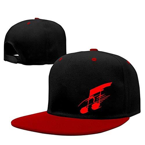 Music Note Cool Flat Brim Hip Hop Baseball Cap Hat Men Women Adjustable -