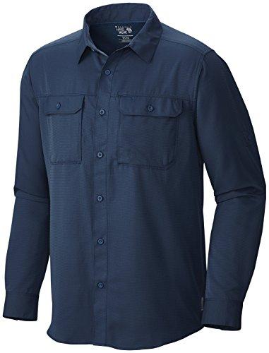 Ls Rock (Mountain Hardwear Canyon LS Shirt - Men's Hardwear Navy Medium)
