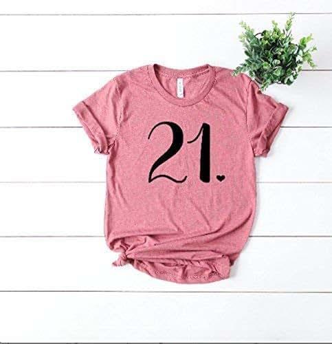 2e50af9456f3 Amazon.com: 21st Birthday Shirt - Twenty First Bday Party - Finally ...