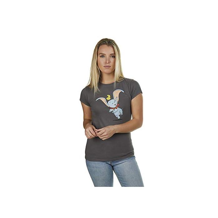 41Ov%2BF4Cp9L Producto oficial de Disney. Estilo: camiseta de corte regular para mujer. 90% Algodón, 10% Poliéster