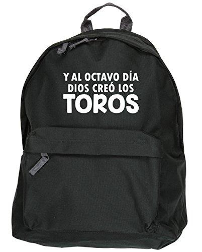 HippoWarehouse Y Al Octavo Día Dios Creó Los Toros kit mochila Dimensiones: 31 x 42 x 21 cm Capacidad: 18 litros Negro