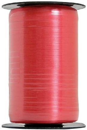 Qualatex(クォラテックス)バルーンリボン(カーリングリボン)レッドPIN11866  幅4,75mm×長さ457,2m