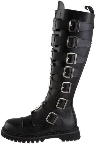 Leather Knee Boots with Steel Toe Caps