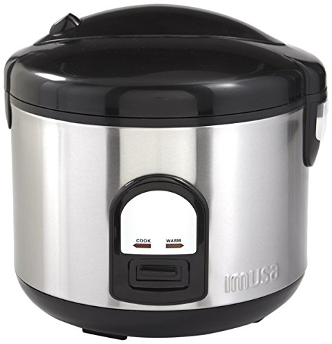 IMUSA USA GAU-00025 10 Cup Deluxe Rice Cooker with Steam Tray, Stainless Steel (Deluxe 10 Cup Rice Cooker compare prices)