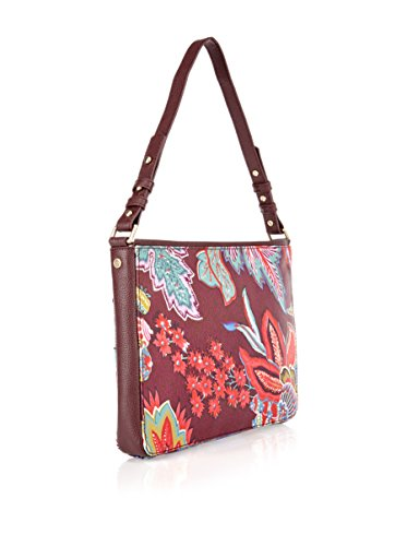 Oilily Vintage Flowers iPad Clutch Burgundy