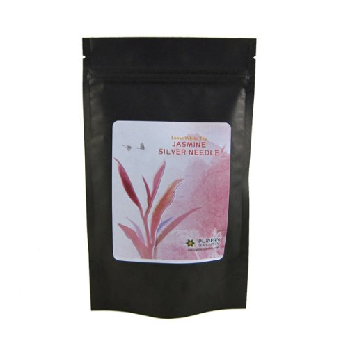 Puripan Organic Loose Leaf White Tea, Jasmine Silver Needle Bulk 1lb Bag, by Puripan