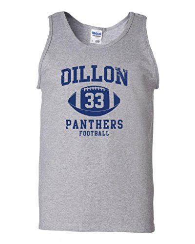City Shirts Dillon Football Retro DT Adult Tank Top (Large, Sports ()