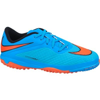 Junior Nike Hyper Phade Astro Turf Trainers Green Orange Indoor Football Boots