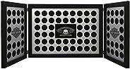 Harley-Davidson Tri-Fold Poker Chip Collectors Frame, Holds 88 Chips, Black 6973