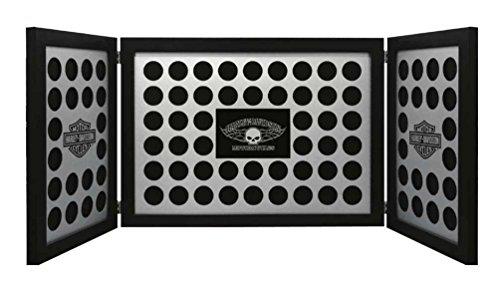(Harley-Davidson Tri-Fold Poker Chip Collectors Frame, Holds 88 Chips, Black 6973)