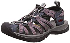 Elastic cording gives this lightweight performance sandal a secure fit, easy to adjust in or out of the water. The washable upper makes cleaning easy, and the cushioned footbed provides comfort on the go.