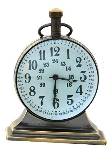 Amazing Art Handicrafts Vintage Maritime Brass Desk Clock Nautical Decor Collectible Table Top Clock