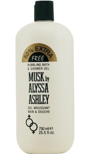 Alyssa Ashley Musk 25.5 oz 750 ml Bubbling Bath & Shower Gel