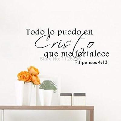 Runinstickers Pegatinas De Pared Cita De La Biblia Española De ...