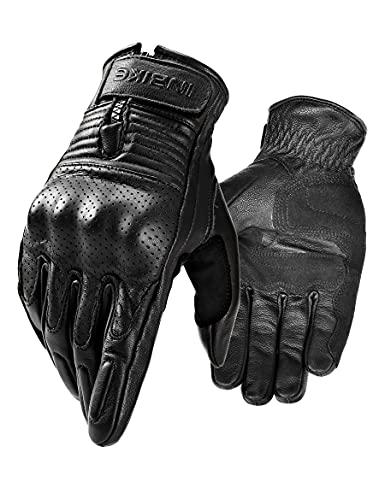 INBIKE Ziegenleder Motorradhandschuhe CE-Zertifizierte Motorrad Schutz Handschuhe Mit Harter Schutzhülle Professionelle…