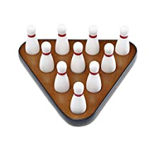 Playcraft Deluxe Pin Setter and Set of 10 Hardwood Bowling Pins