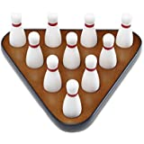 Playcraft Deluxe Pin Setter, Set of 10 Hardwood Bowling Pins and Carry Bag