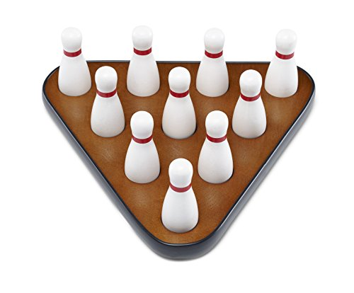 Playcraft Deluxe Pin Setter, Set of 10 Hardwood Bowling Pins and Carry Bag Bowling Table