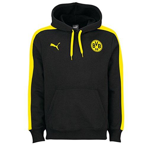 Puma BVB T7 Hoody Jacket sweatshirt Men yellow or black dortmund 09, color:Schwarz;konfektionsgröße:M