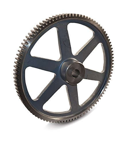 Boston Gear NB112 Spur Gear, 14.5 Pressure Angle, Cast Iron, Inch, 16 Pitch, 0.625'' Bore, 7.125'' OD, 0.500'' Face Width, 112 Teeth by Boston Gear