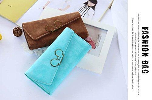 WTUS Mujer Nueva Cartera De Escarcha Mickey Cabeza Inclinada Cubierta Billeteras Bolsos De Mujeres Más Del Triple azul2
