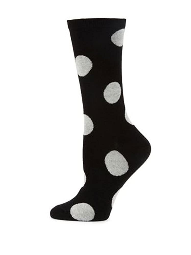 kate spade new york Women's Pop Dots Crew Socks Black
