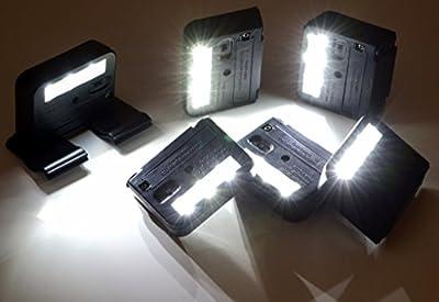 Homebrite Plastic Garden Landscape Solar Deck Lights with 3 LED, Wunderlight, Set of 6, Black