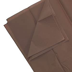 JAM Paper Tissue Paper - Brown - 10 Sheets/pack