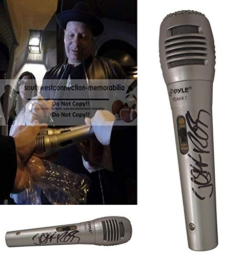 The Roastmaster General Jeff Ross Signed Hand Autographed Microphone with Exact Proof Photo of Jeff Signing the Mic, Comedy Central, CSI, Six Feet Under, Weeds, COA