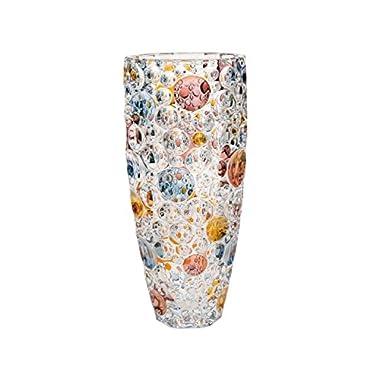 Bohemia Bubble Design Glass Flower Vase Multicolor