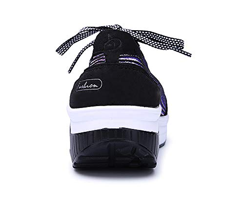 Zapatos Mesh Morado Adelgazar Mujer Sneaker Fitness Cuña Deporte Aitaobao Sneakers Caminar Transpirable Plataforma qftBn4wwx7