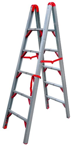 Telesteps 600FLD OSHA Compliant 6 ft Double sided folding step ladder (STIK) ()