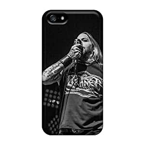 Protective Hard Phone Covers For Iphone 5/5s With Unique Design High Resolution Coal Chamber Band Pattern LauraAdamicska