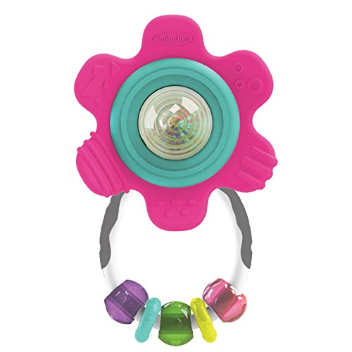 (Infantino Spin & Teethe Gummy Flower Rattle)