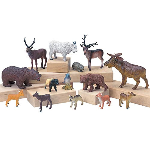 Constructive Playthings Vinyl Forest Animal Play Set