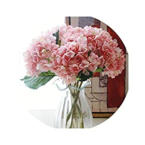 Fashion Artificial Hydrangea Flower Silk Cloth Plastic Wedding Supplies DIY Home Decoration for Birthday Party Festival 67
