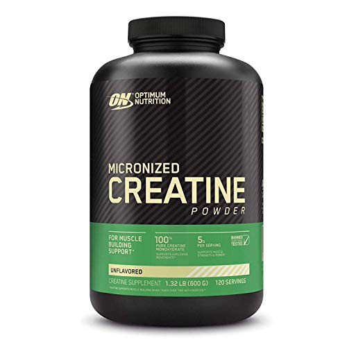 Optimum Nutrition Micronized Creatine Monohydrate Powder, Unflavored, Keto Friendly, 120 Servings (Packaging May Vary)