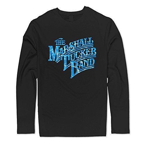 Great Marshall Tucker Band Water Logo T-shirts For Men Black (Shirt Band Tucker Marshall)