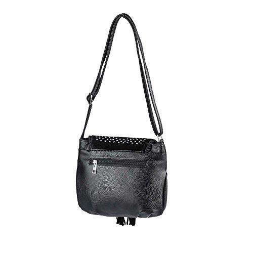 femme pour main Couture OBC Only 27x24x6 Noir à cm Noir Noir Beautiful Sac gXUYwq0