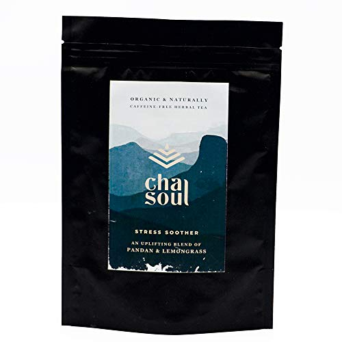 Soul Soother - Cha Soul - Stress Soother Functional Tea for Anxiety Relief and Stress Support, Natural Headache and Pain Relief, Control Cholesterol and Blood Sugar with Organic Lemongrass and Pandan: 20 Tea Bags