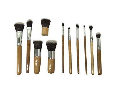Beauty Bon Wood Handles Makeup Brush Set, 11 Piece