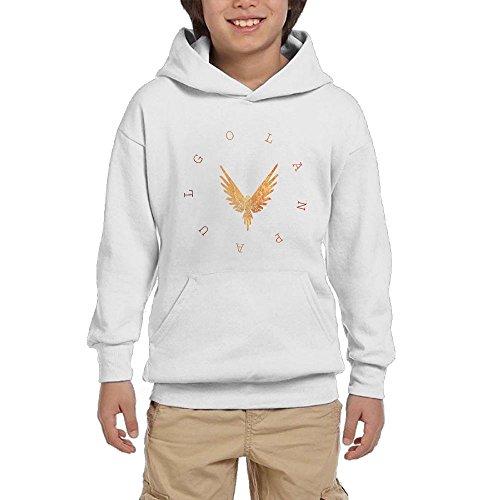 Lodakinss Logan Paul Sweatshirt Mens Maverick Logo Men's Funny Long Sleeve Hoodie XL White