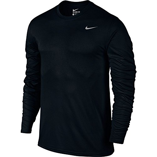NIKE Men's Dry Training Top Black/Matte Silver Size Medium