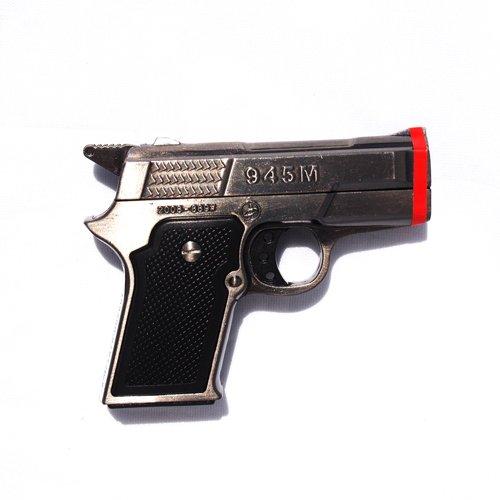 1x Black Pistol Twin Torch Lighter Refillable Cigar Cigarette ()