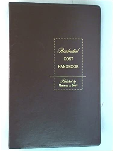 Residential Cost Handbook Marshall And Swift Company