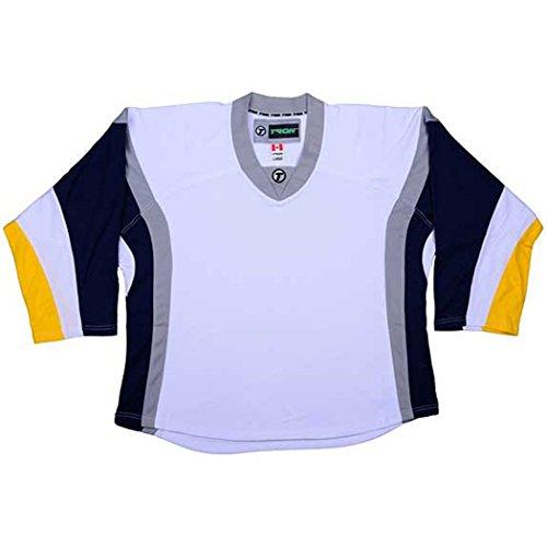Hockey Buffalo Jr Sabres - TRON DJ300 Buffalo Sabres Dry Fit Hockey Jersey (White - Jr. Small/Medium)