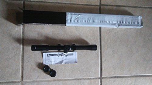 22 Caliber Riflescope - Hunt Gas Filled 4x20 Crosshair Riflescope for 22 caliber and air rifles with lens caps.